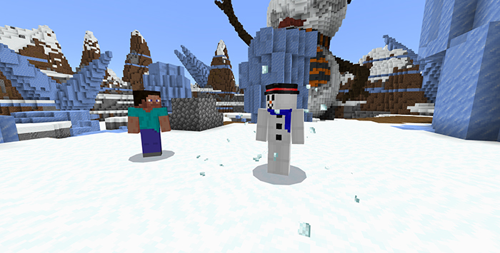 Starting stage - Snowman Survival - Bedrock.jpg